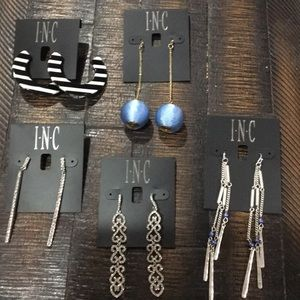 5 Piece lot of new INC fashion earrings!